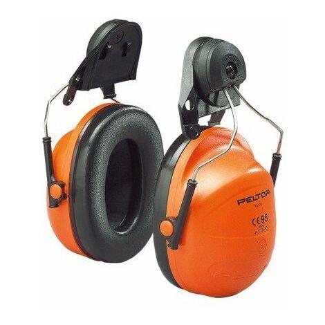 Orejera naranja para casco con anclaje P3K H31P3K 300 (20 pares)