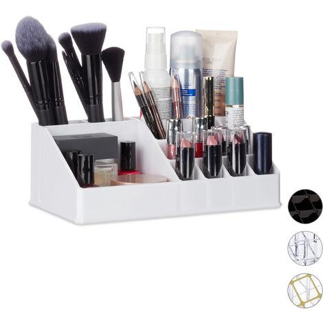 Organisateur Cosmétique Acrylique Rangement Make-Up 16 Casier Maquillage Support Rouge à Lèvre, Blanc