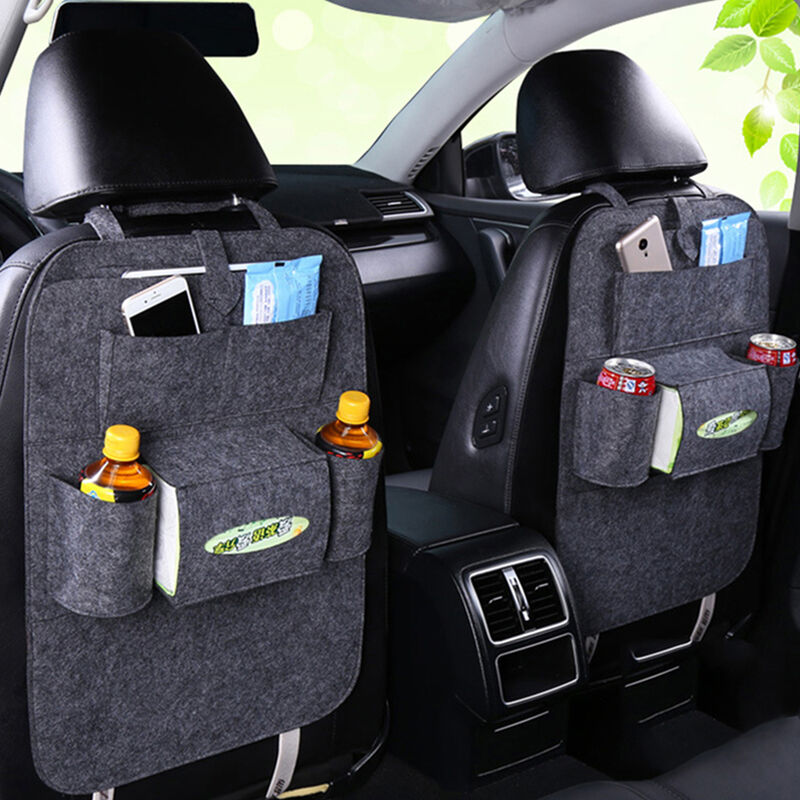 Auto Car Backseat Organizer Car-Styling Holder Feutre Couvre Polyvalent Multi-Pocket Seat Feutre De Laine Conteneur De Rangement Boite Suspendue