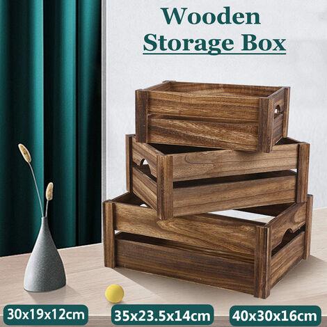 Organisateur de bureau créatif de taille multiple Boîte de rangement pour articles divers en bois Décoration de la maison (taille moyenne)