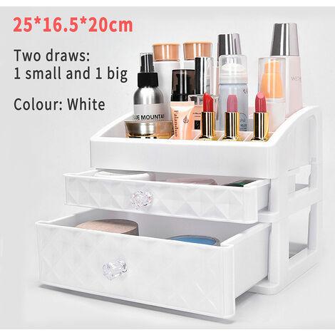 Organisateur de maquillage de bureau Comestic Rangement de maquillage Comestic Make Up Boîte de rangement Conteneur (C)