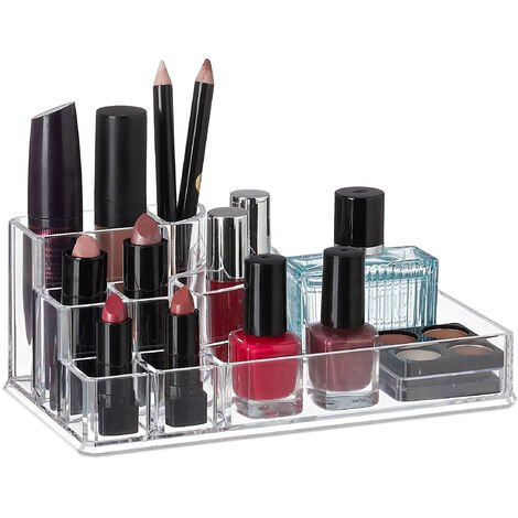 Organiseur de maquillage, Make-Up, 8 compartiments maquillage Support acrylique