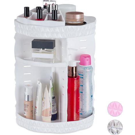 Organiseur de maquillage, rotatif 360 degrés, Acrylique, organiseur cosmétique ajustable, différents Couleurs