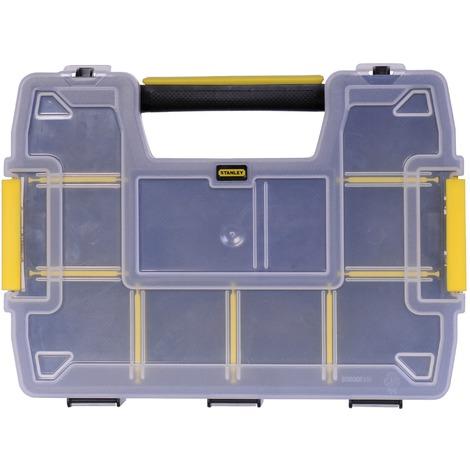 Organiseur Sortmaster Mini Stanley - L x l x h - 290 x 210 x 63 mm - Couvercle : transparent