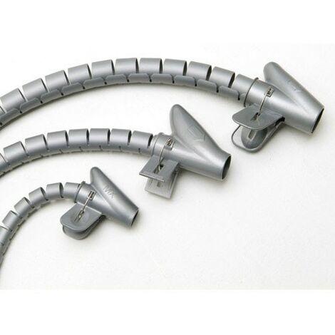 Organizador de Cables Funda Blanca con Clip de 25-30 mm Longitud 2,5 m BeMatik
