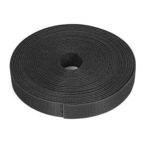 Organizador de cables de sujecion reutilizable de 1 rollo, bridas multiusos para cables