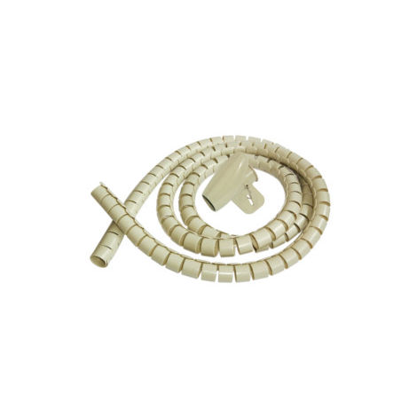 ORGANIZADOR DE CABLES MARFIL 16MM LARGO 2 METROS
