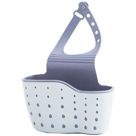 Organizador de fregadero de cocina, Soporte de esponja TPR,Azul claro