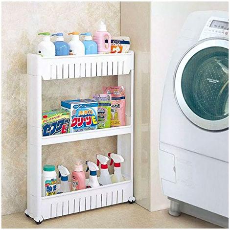 Organizador de productos deslizante con ruedas 3 estantes para cocina y/o baño