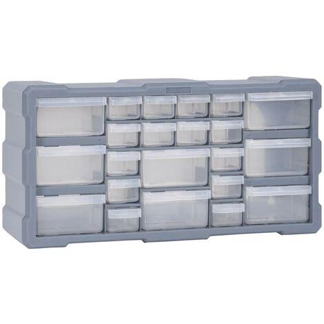 Organizador multicajones con 22 cajones 49x16x25,5 cm