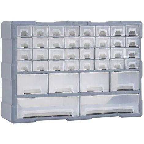 Organizador multicajones con 40 cajones 52x16x37,5 cm