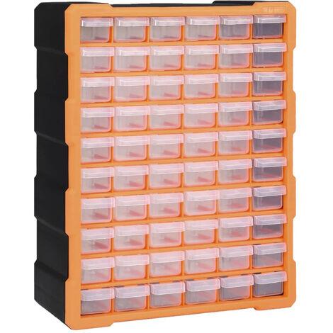 Organizador multicajones con 60 cajones 38x16x47,5 cm