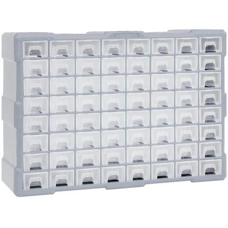 Organizador multicajones con 64 cajones 52x16x37,5 cm