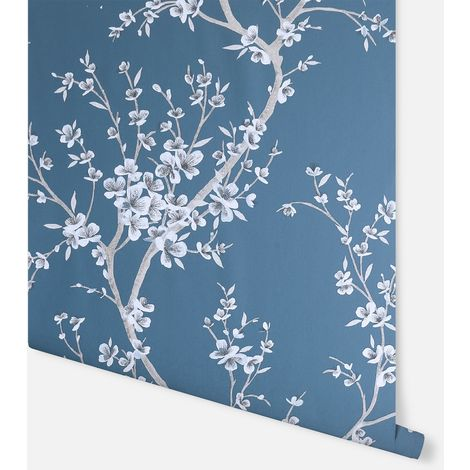 Oriental Trail Teal Wallpaper - Arthouse - 692805