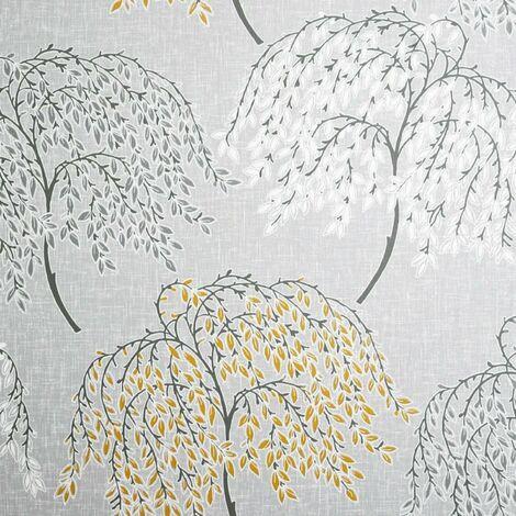 Oriental Tree Ochre & Grey Wallpaper - Arthouse - 908402