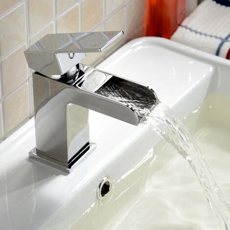 "main image of ""Origin Waterfall Bathroom Basin Mixer Tap & Waste Chrome"""