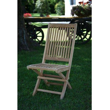 Sedie In Legno Pieghevoli Da Giardino.Originale Legno Teak Sedia Pieghevole Da Giardino Mobili Senza Braccioli