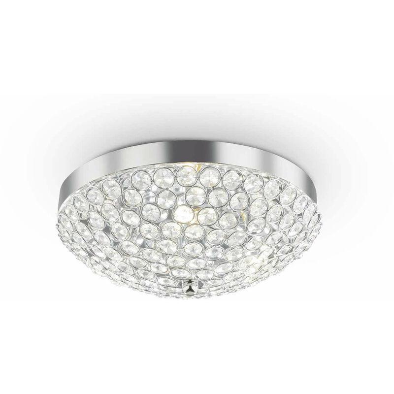 ORION Chrom Kristall Deckenleuchte 5 Lampen - 01-IDEAL LUX