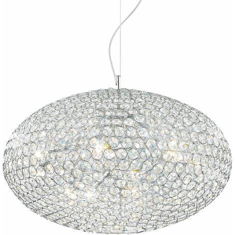 ORION chrome crystal pendant light 12 bulbs