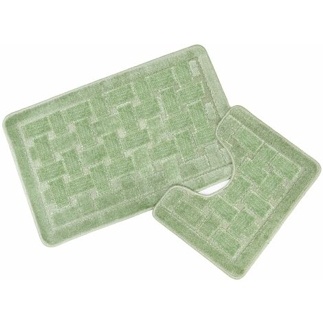 Orkney Sage Bath Mat and Pedestal Set