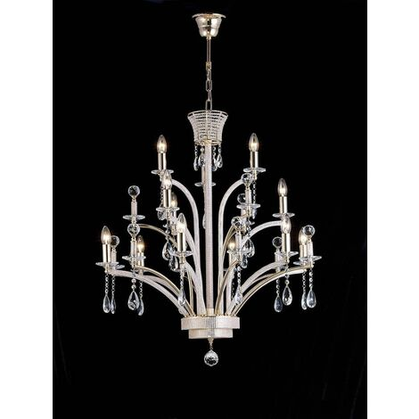 Orleto Large 12 Bulbs Gold Plated Pendant (Assembly required)