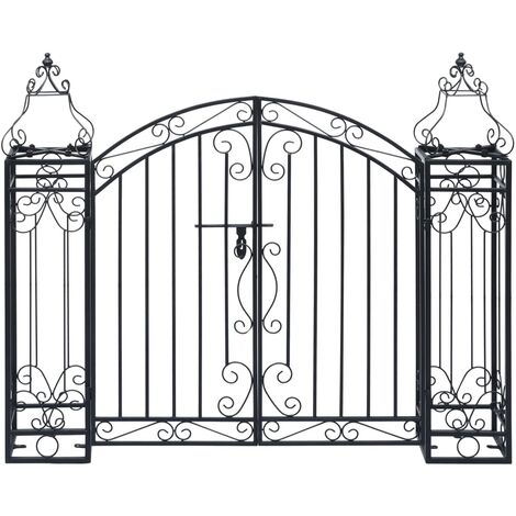 """main image of """"Ornamental Garden Gate Wrought Iron 122x20.5x100 cm34246-Serial number"""""""