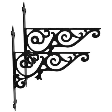 Ornamental Hanging Bracket - Two Pack
