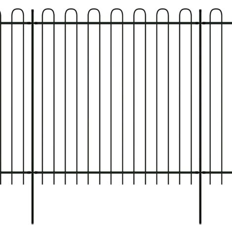 Ornamental Security Palisade Fence Steel Hoop Top 600x200 cm