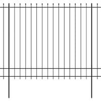 Ornamental Security Palisade Fence Steel Pointed Top 600x200 cm