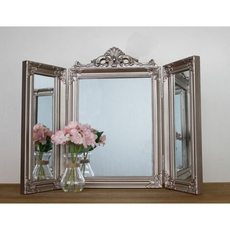 """main image of """"Ornate Silver Dressing Mirror"""""""