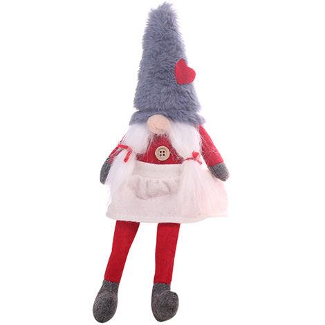 Ornement De Poupee Sans Visage De Noel, Decoration De Noel, Gris