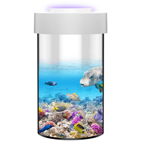 Ornementale Ecologique Fish Tank Aquarium Multi-Fonctionnelle Avec Mosquito-Tuer Bas Fonction Decoration De Bruit Pour La Maison Salon Bureau D'Etude Chambre, S