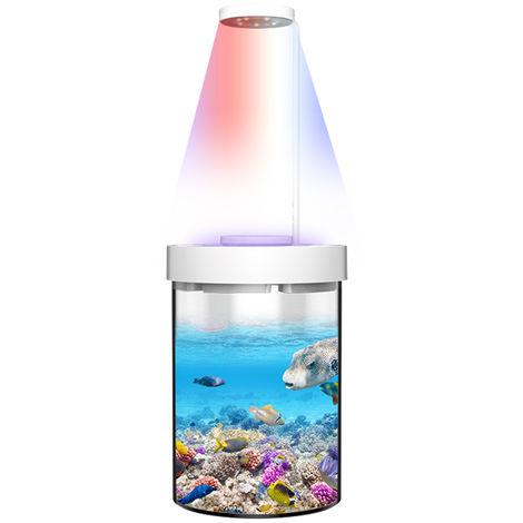 Ornementale Ecologique Fish Tank Aquarium Multi-Fonctionnelle Avec Mosquito-Tuer Fonction Lumiere Basse Decoration De Bruit Pour La Maison Salon Bureau D'Etude Chambre, L