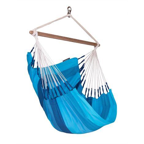 Orquídea Lagoon - Chaise-hamac basic en coton - Bleu / turquoise