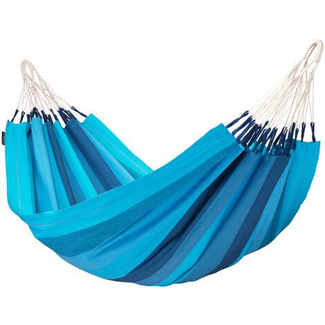 Orquídea Lagoon - Hamac classique simple en coton - Bleu / turquoise