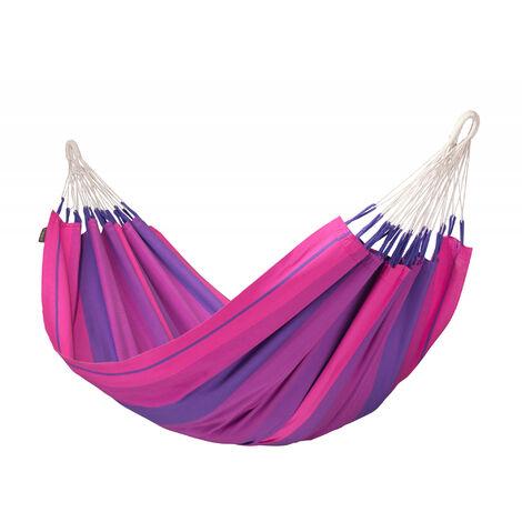 Orquídea Purple - Hamac classique simple en coton - Magenta / rose