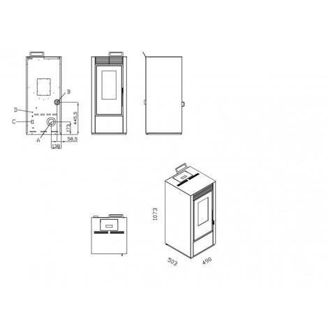 orta tanche 14kw po le granul s stovia blanc sans. Black Bedroom Furniture Sets. Home Design Ideas