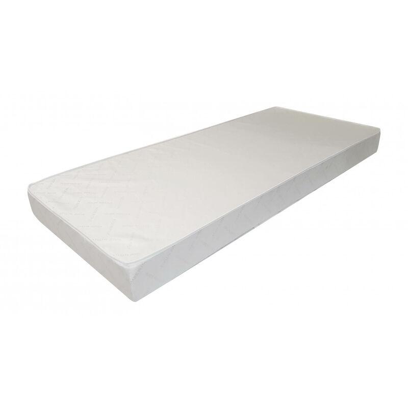 Orthopädische Matratze für ein Einzelbett aus Polyurethanschaum und Baumwollbezug, Farbe Weiß, 190 x 16 x 80 cm. - DMORA