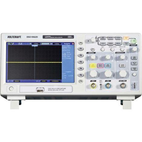 Oscilloscope numérique VOLTCRAFT DSO-1102D 100 MHz 500 Méch/s 512 kpts 8 bits 2 canaux