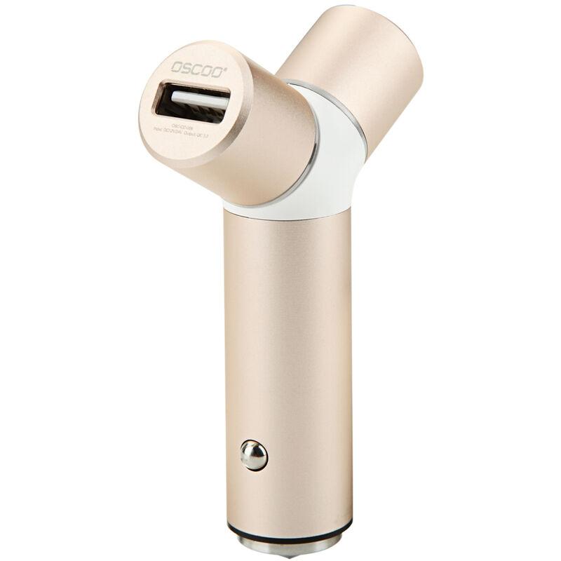 Oscoo 001 Chargeur Usb A 2 Ports Charge Rapide 3.0 2.0 Chargeur De Telephonie Mobile Chargeur De Voiture Rapide Pour Samsung Xiaomi Tablet Charger