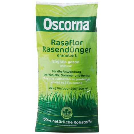 Oscorna® Rasaflor Rasendünger granuliert 25 kg für 250 bis 500 m²