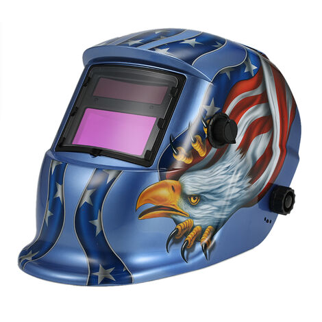 Oscurecimiento auto solar de soldadura soldadores casco Mascara Arco Tig Mig Molienda Eagle, azul