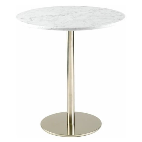 Osling Round Marble Or Granite Tall Poseur Bar Kitchen Table Stainless Steel Frame Various Sizes