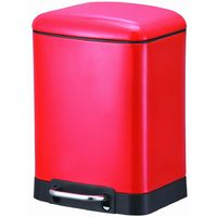 Oslo 6l Soft Close Pedal Bin - Red