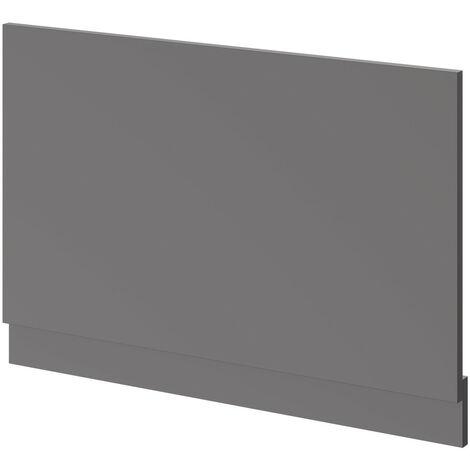 "main image of ""Oslo Gloss Grey MDF 800mm End Bath Panel"""