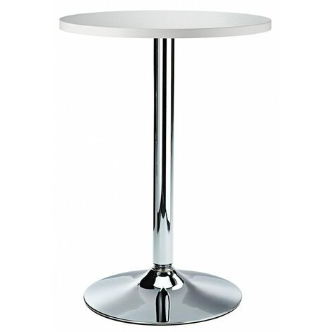Oslo High Poseur Bar Table In Round Black,White,Oak Walnut Table Top