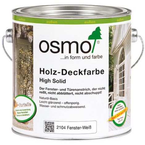 OSMO 2104 Holz Deckfarbe Weiß 2,5 Ltr