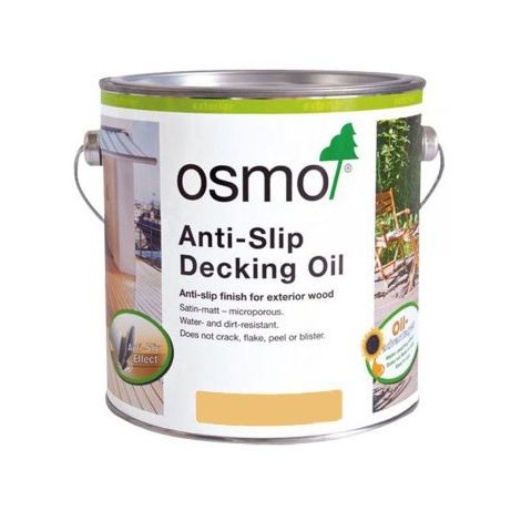 Osmo Anti Slip Decking Oil - Clear - 2.5 Litre