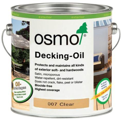 Osmo Decking or Furniture Oil - Teak Oil Clear - 2.5 Litre