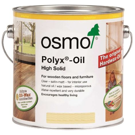Osmo Polyx Hard Wax Oil - Clear - Semi Matt - 2.5 Litre